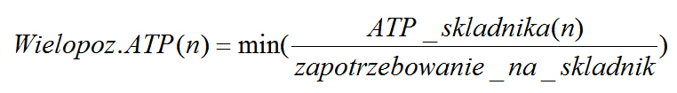 Wzór na wielopoziomowe ATP