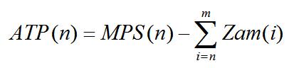 Wzór na zwykłe ATP dla kolejnych okresów