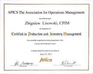 CPIM Certificate